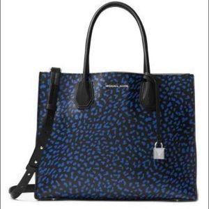 🌺Michael kors Satchel Mercer Leopard Leather bags